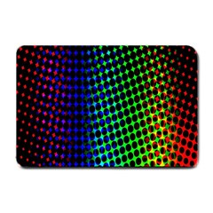 Digitally Created Halftone Dots Abstract Background Design Small Doormat