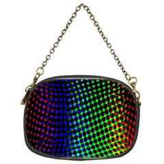 Digitally Created Halftone Dots Abstract Background Design Chain Purses (Two Sides)