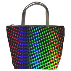 Digitally Created Halftone Dots Abstract Background Design Bucket Bags