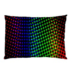 Digitally Created Halftone Dots Abstract Background Design Pillow Case
