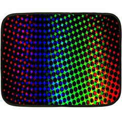 Digitally Created Halftone Dots Abstract Background Design Double Sided Fleece Blanket (Mini)