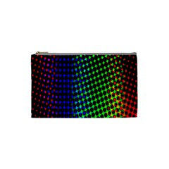 Digitally Created Halftone Dots Abstract Background Design Cosmetic Bag (Small)