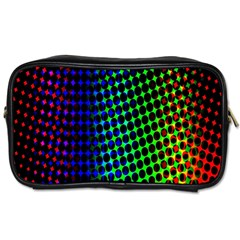 Digitally Created Halftone Dots Abstract Background Design Toiletries Bags