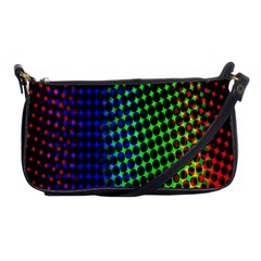 Digitally Created Halftone Dots Abstract Background Design Shoulder Clutch Bags