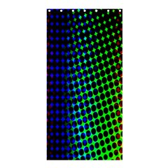 Digitally Created Halftone Dots Abstract Background Design Shower Curtain 36  X 72  (stall)