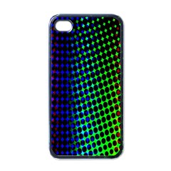 Digitally Created Halftone Dots Abstract Background Design Apple Iphone 4 Case (black)