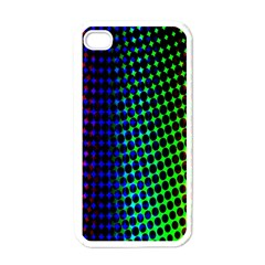 Digitally Created Halftone Dots Abstract Background Design Apple iPhone 4 Case (White)