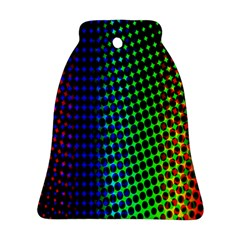 Digitally Created Halftone Dots Abstract Background Design Bell Ornament (two Sides)