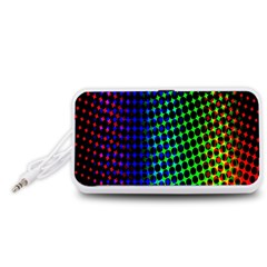 Digitally Created Halftone Dots Abstract Background Design Portable Speaker (White)