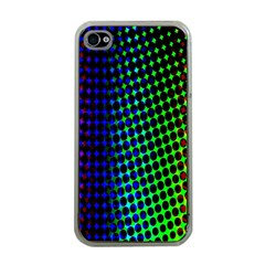Digitally Created Halftone Dots Abstract Background Design Apple iPhone 4 Case (Clear)