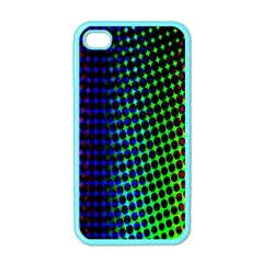 Digitally Created Halftone Dots Abstract Background Design Apple iPhone 4 Case (Color)
