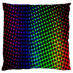 Digitally Created Halftone Dots Abstract Background Design Large Cushion Case (one Side)