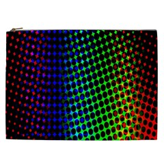 Digitally Created Halftone Dots Abstract Background Design Cosmetic Bag (xxl)