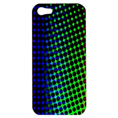 Digitally Created Halftone Dots Abstract Background Design Apple iPhone 5 Hardshell Case