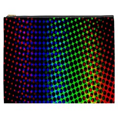 Digitally Created Halftone Dots Abstract Background Design Cosmetic Bag (XXXL)