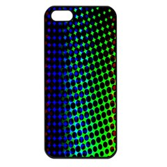 Digitally Created Halftone Dots Abstract Background Design Apple iPhone 5 Seamless Case (Black)