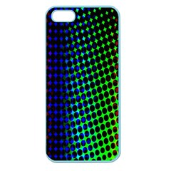 Digitally Created Halftone Dots Abstract Background Design Apple Seamless iPhone 5 Case (Color)