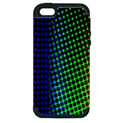 Digitally Created Halftone Dots Abstract Background Design Apple iPhone 5 Hardshell Case (PC+Silicone)