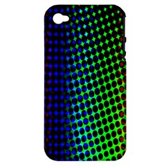 Digitally Created Halftone Dots Abstract Background Design Apple iPhone 4/4S Hardshell Case (PC+Silicone)