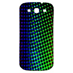 Digitally Created Halftone Dots Abstract Background Design Samsung Galaxy S3 S III Classic Hardshell Back Case