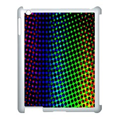 Digitally Created Halftone Dots Abstract Background Design Apple iPad 3/4 Case (White)