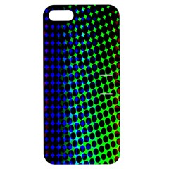Digitally Created Halftone Dots Abstract Background Design Apple iPhone 5 Hardshell Case with Stand
