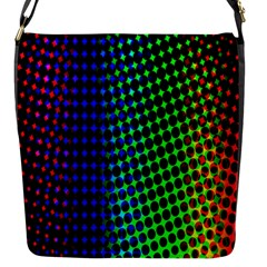 Digitally Created Halftone Dots Abstract Background Design Flap Messenger Bag (s)