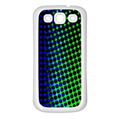 Digitally Created Halftone Dots Abstract Background Design Samsung Galaxy S3 Back Case (White)