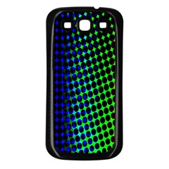 Digitally Created Halftone Dots Abstract Background Design Samsung Galaxy S3 Back Case (Black)