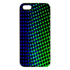 Digitally Created Halftone Dots Abstract Background Design iPhone 5S/ SE Premium Hardshell Case