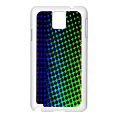 Digitally Created Halftone Dots Abstract Background Design Samsung Galaxy Note 3 N9005 Case (White)