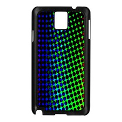 Digitally Created Halftone Dots Abstract Background Design Samsung Galaxy Note 3 N9005 Case (Black)