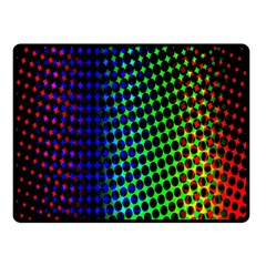 Digitally Created Halftone Dots Abstract Background Design Double Sided Fleece Blanket (small)