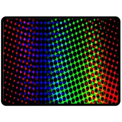 Digitally Created Halftone Dots Abstract Background Design Double Sided Fleece Blanket (large)