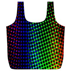 Digitally Created Halftone Dots Abstract Background Design Full Print Recycle Bags (l)