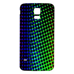 Digitally Created Halftone Dots Abstract Background Design Samsung Galaxy S5 Back Case (White)