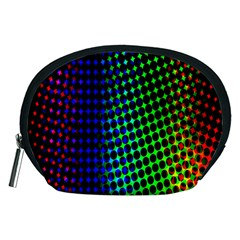 Digitally Created Halftone Dots Abstract Background Design Accessory Pouches (medium)