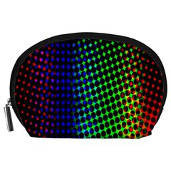 Digitally Created Halftone Dots Abstract Background Design Accessory Pouches (Large)