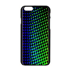 Digitally Created Halftone Dots Abstract Background Design Apple Iphone 6/6s Black Enamel Case