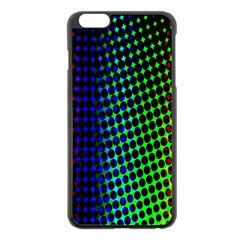 Digitally Created Halftone Dots Abstract Background Design Apple iPhone 6 Plus/6S Plus Black Enamel Case