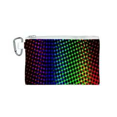 Digitally Created Halftone Dots Abstract Background Design Canvas Cosmetic Bag (S)