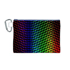 Digitally Created Halftone Dots Abstract Background Design Canvas Cosmetic Bag (M)