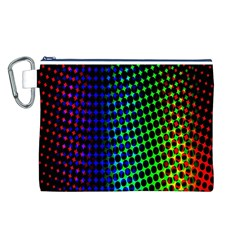 Digitally Created Halftone Dots Abstract Background Design Canvas Cosmetic Bag (l)