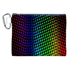 Digitally Created Halftone Dots Abstract Background Design Canvas Cosmetic Bag (XXL)