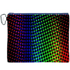 Digitally Created Halftone Dots Abstract Background Design Canvas Cosmetic Bag (xxxl)