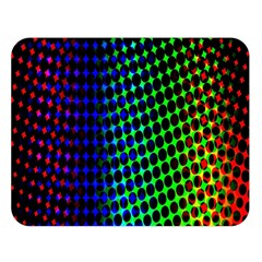 Digitally Created Halftone Dots Abstract Background Design Double Sided Flano Blanket (large)