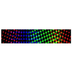 Digitally Created Halftone Dots Abstract Background Design Flano Scarf (Small)