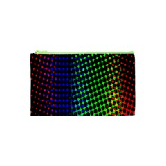 Digitally Created Halftone Dots Abstract Background Design Cosmetic Bag (XS)