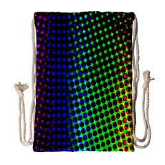 Digitally Created Halftone Dots Abstract Background Design Drawstring Bag (large)