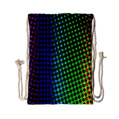 Digitally Created Halftone Dots Abstract Background Design Drawstring Bag (Small)